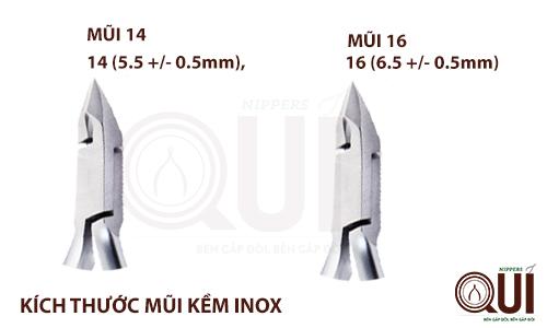 Lưỡi kềm bén ngọt, với 2 kích thước 14 & 16 giúp khách hàng dễ dàng lựa chọn.